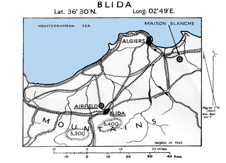 Blida airfield map, 1943.