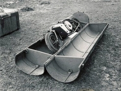 A disassembled Welbike in its 'C' type container, 1942.
