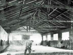 The enlisted men mess hall is being built. Castiglioncello, Italy. March 1945.