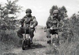 British paratroopers riding their Welbikes.